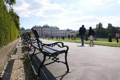 眺望楼-开胃菜,维也纳的王子的国家住所 库存照片