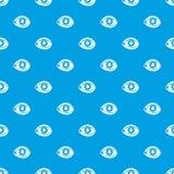 眼孔图样无缝的蓝色整容手术  向量例证