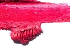 眼影或在白色背景隔绝的bronzer红色污点 皇族释放例证