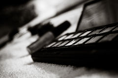 眼影-组成(黑色&白色) 免版税库存照片