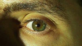 眼珠的疯狂的眼睛自转 慢的行动 影视素材