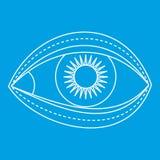 眼皮手术象,概述样式 库存例证