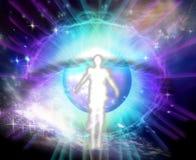 眼睛、生活在死亡以后和宇宙 免版税库存照片