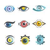 眼睛传染媒介眼科学象模板隔绝了视觉眼睛舱内甲板集合 免版税库存图片