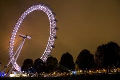 眼睛伦敦千年晚上 免版税库存图片