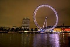 眼睛伦敦千年晚上 库存图片