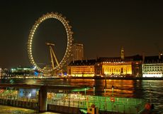 眼睛伦敦千年轮子 免版税库存照片