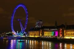 眼睛伦敦晚上 免版税库存照片