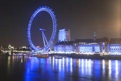 眼睛伦敦晚上 免版税图库摄影