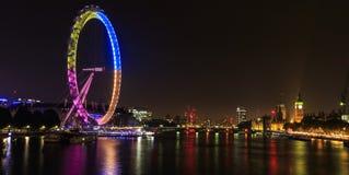 眼睛伦敦晚上 库存照片