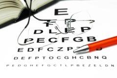 眼睛光学测试 免版税库存照片