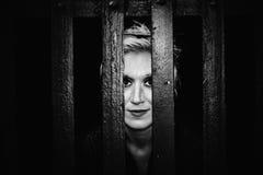 眼睛关在监牢里 免版税库存图片