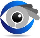 眼睛商标 图库摄影