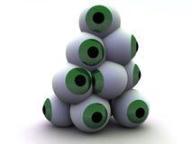 眼睛堆5 向量例证