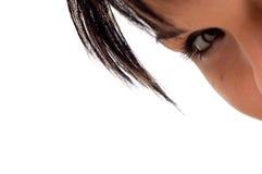 眼睛头发 免版税图库摄影