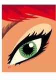 眼睛女孩 向量例证
