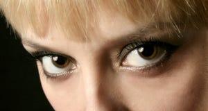 眼睛妇女 免版税库存照片