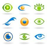 眼睛徽标向量 皇族释放例证