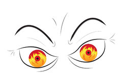 眼睛愤怒愤怒火山火 皇族释放例证