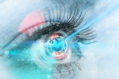 眼睛扫描接口 库存图片