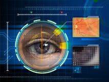 眼睛扫描程序 免版税库存图片