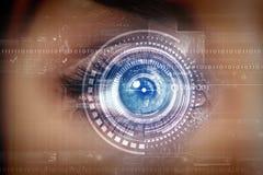 眼睛扫描 库存照片