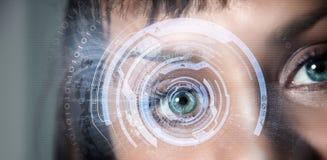 眼睛扫描 免版税库存照片