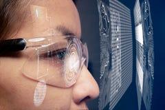 眼睛技术为改进好视觉 库存图片