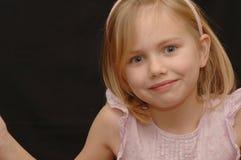 眼睛明亮的女孩一点 免版税库存照片