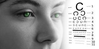 眼睛测试的综合图象 库存照片