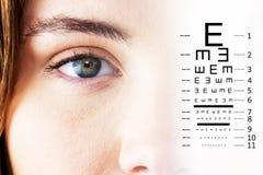 眼睛测试的综合图象 库存图片