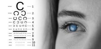 眼睛测试的综合图象 免版税库存图片