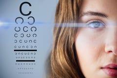 眼睛测试的综合图象 免版税库存照片