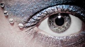 眼睛灰色 免版税库存照片