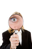 眼睛玻璃扩大化 免版税库存照片