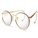 眼睛玻璃金眼镜 免版税库存照片