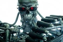 眼睛用机器制造红色战争 免版税库存图片
