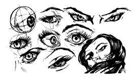 眼睛的例证 库存图片