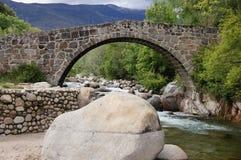 眼睛的罗马桥梁 库存照片