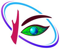 眼睛绿色 库存例证