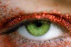 眼睛绿色 免版税库存照片