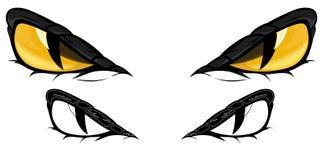 眼睛蛇向量 图库摄影