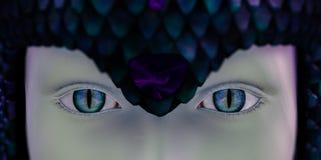 眼睛蛇妇女 库存例证