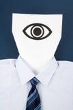 眼睛表面纸张 免版税库存照片