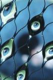 眼睛被折射的水 免版税库存图片