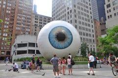 眼睛雕塑 免版税库存图片