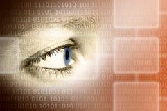 眼睛雷达扫描技术 图库摄影