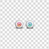 眼睛, 3D例证 图库摄影