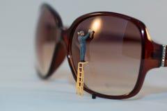 眼睛玻璃清洁剂 免版税库存图片