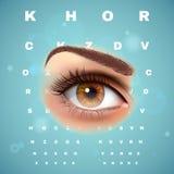 眼科Optometric视觉控制图海报 免版税库存照片